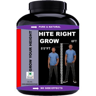 Vitara Healthcare Hite Right Grow Chocolate Flavour Powder For Men And Women Height Growth Height Increase (100Gm Powder) Pack Of 1