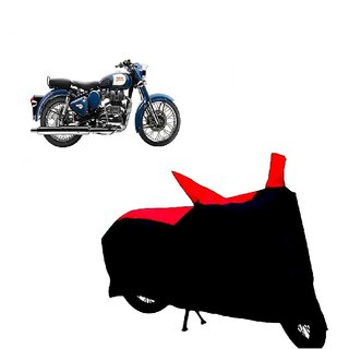 ABP Premium Red with Black-Matty Bike Body Cover For Bullet Classic 350