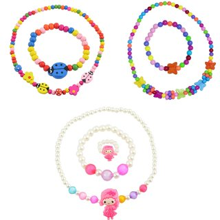 Angel Glitter Pretty Doll Birthday Gift For Kids Combo Of 3 Jewelry Set