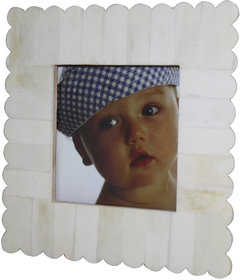 Decorative White Color Resin photo Frame 4x4