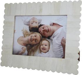 Decorative White Color Resin photo Frame 5x7