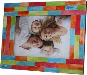 Multicolor Resin Photo Frame 5x7