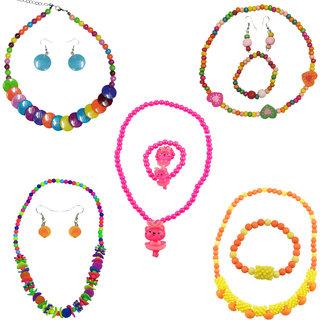 Angel Glitter Combo Of 5 Jewellery Set For Kids Birthday Return Gift
