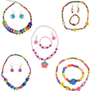 Angel Glitter Combo Of 5 Jewellery Set Return Gift For Kids