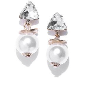 Zaveri Pearls Gold Tone Daily Wear Pearl Drop Earring For Women-ZPFK8330