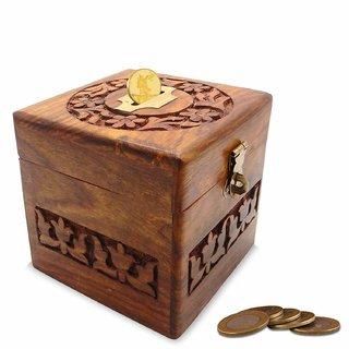 wooden money bank