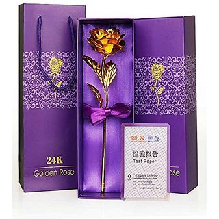 Agarwal Trading Corporation 24K Golden Rose 10 INCHES With Gift Box - Best Gift For Loves Ones, Valentine's Day, Mother'