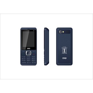 Refurbished Trio T5 Star Blue 2.4 Inch Display,2500 mAh Battery,Dual SIM Bar Phone