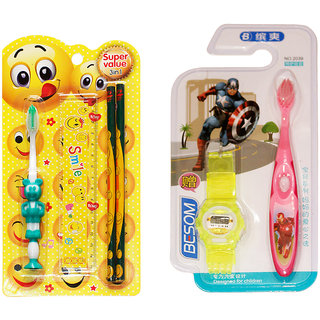 Toys Factory baby care toothbrush with watch (set) 3 in 1