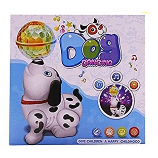 OH BABY, BABY Cute Dancing Dog Toy with Reflected 3D Lights  Wonderful Music for Kids FOR YOUR KIDS SE-ET-586