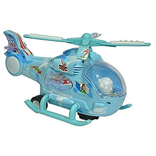 Helicopter with LED Lights + Bump and Go Action