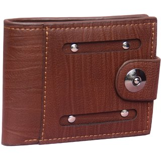 Imported Men's Artificial leather Brown wallet (Synthetic leather/Rexine)