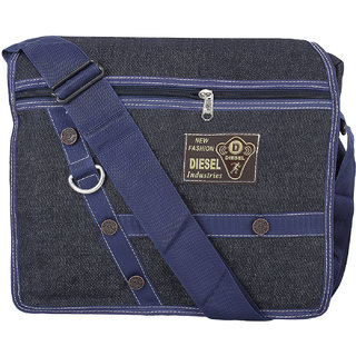 BumBart Collection Men  Women Casual Dark Blue Color Denim Sling Bag