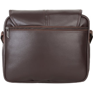 7968fc60e4 BumBart Collection Men Women Casual Brown Color Leatherette Sling Bag