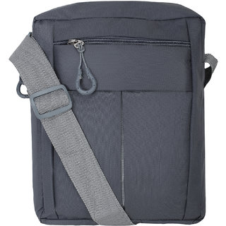 BumBart Collection Men  Women Casual Grey Color Polyester Sling Bag