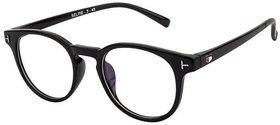 Anti -Glare / Transparent Black UV Protection Full Rim Round EyeGlass Frame