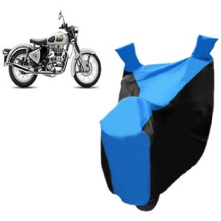 ABP Premium Blue with Black-Matty Bike Body Cover For Bullet Classic 350