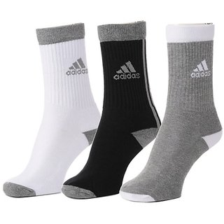 Adidas Mens Crew Length Socks - 3 Pairs