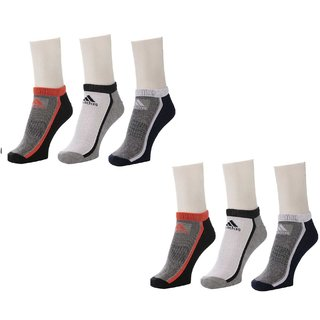 Adidas Mens Ankle Length Socks - 6 Pairs