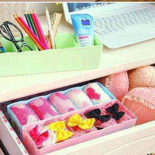 sell net retail Socks Undergarments Storage Drawer Organiser Set of 1, (Colour May Vary)