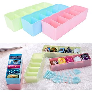 sell net retail Socks Undergarments Storage Drawer Organiser Set of 3, (Colour May Vary)
