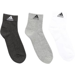 Adidas Mens Ankle Length Socks - 3 Pairs