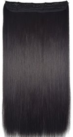 Wonder Choice 24 Inches Long Black 5 Clip In Hair Extension For Women and Girls