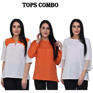 Bloomeri Women's Combo pack of 3 Tops(TOP COMBO-0)