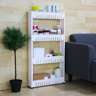 sell net retail 4-Tiers Slim Slide Out Storage Tower - Great for Kitchen, Bathroom Home Organizer pack of 1