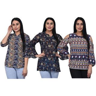 Bloomeri Women's Combo pack of 3 Tops(TOP COMBO-1)