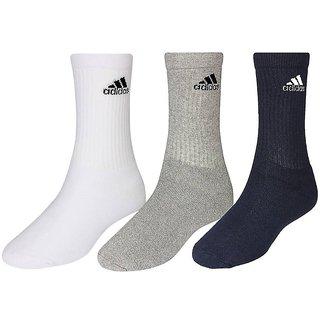 Adidas Mens Full Length Socks - 3 Pairs