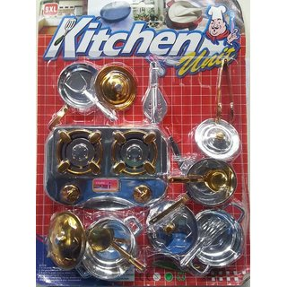 Jojoss Kitchen Unit Play Set for Girls 15 pcs