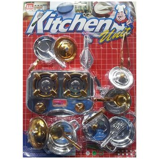 Jojo Kitchen Unit Play Set for Girls 15 pcs