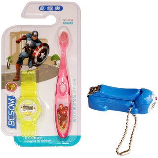 Toys Factory Baby care nail cutter toothbrush and width-watch (set)