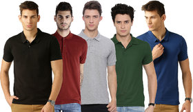 Galatea Multi Slim Fit Polo T Shirt Pack of 5