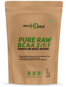 HealthOxide Pure Raw BCAA 100 Powder Pre/Post Workout Supplement - 250 Gms