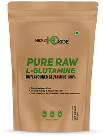 HealthOxide L-Glutamine for Muscle Growth and Recovery (Unflavored)  250 Gm