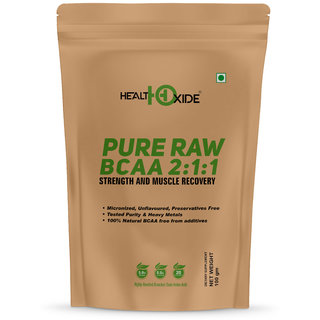 HealthOxide Pure Raw BCAA 100 Powder Pre/Post Workout Supplement - 1000 Gms