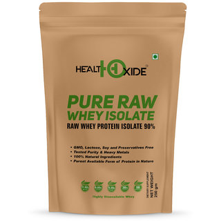 HealthOxide Whey Protein Isolate (Raw  Unflavored / 27 G Protein per Serving)  250 Gm