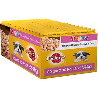Pedigree Gravy Chicken 2400 g Wet Dog Food  (Pack of 30)