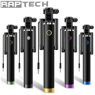 Raptech Black Selfie Stick - Black