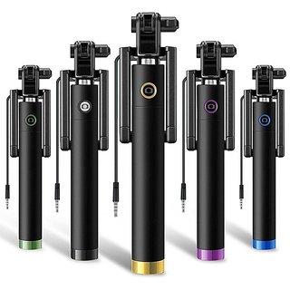 Innotek Black  AUX Cable Selfie Stick - Black