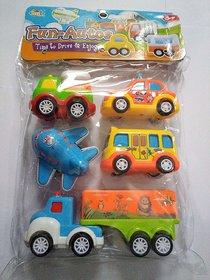 Jojoss Fun Autos Mini Car Toy 5Pcs Set for Kids 3+