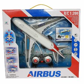 Jojoss Remote Controlled  Aeroplane Toy with Light  Music for  Kids 5+