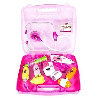 Enterprise Kids Plastic Play Toy Doctor Set With Light Sound Effects (Pink)