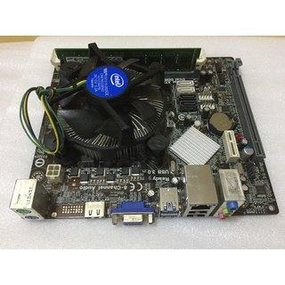 Used Intel core i3 4th Generation 4130 3.4GHz Processor+ Ecs H81H3-M4 Board+4Gb RAM