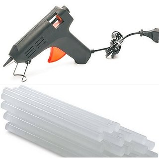 Imstar 40W 40 Watt Black Color Hot Melt Glue Gun Coated Nozzle with, 2 Glue Sticks