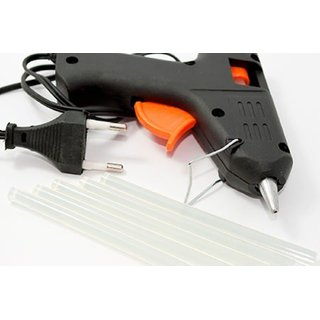 Imstar 40 W Black Color Hot Melt Glue Gun with Glue Sticks ,2 Pieces