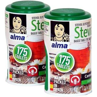 Alma (Made Packed In Spain) 350 Stevia Tablets 100 Natural Sweetener Sugar Free Tablets - Sugarfree