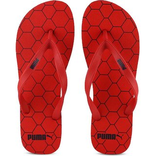 8582a3df482f Buy Puma Red Black Block IDP Flip Flops Online - Get 78% Off